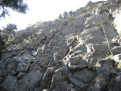 Rock Climbing Photo: Emmys first climb. A man hiking by said this was B...