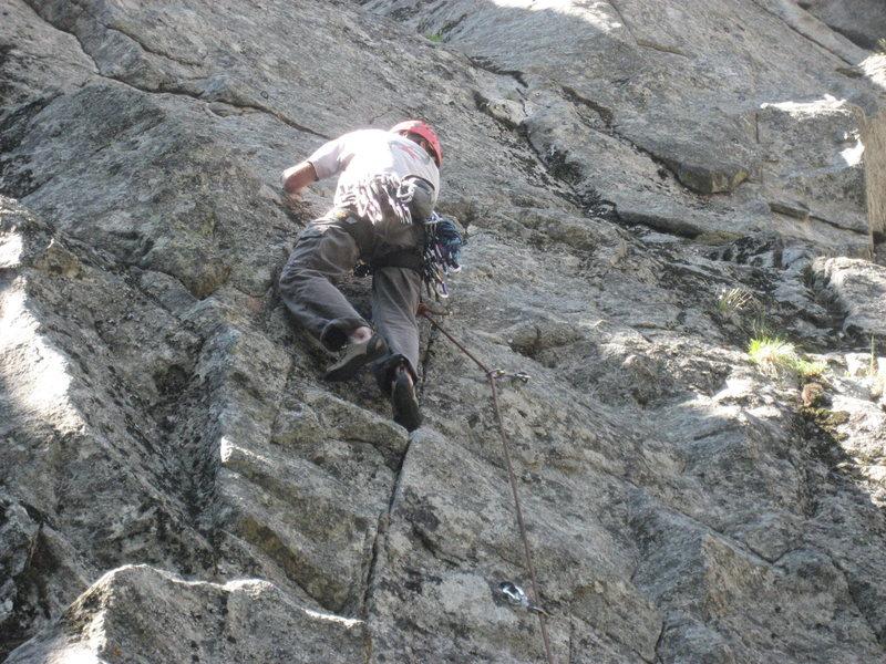 Rock Climbing Photo: John leading