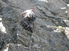 Rock Climbing Photo: John leading