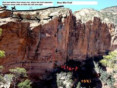 Rock Climbing Photo: Photo of route, from the right side of the ampheth...
