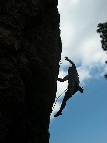 Rock Climbing Photo: Marty's super sweet attempt to go for a hold on Cr...