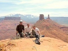 Rock Climbing Photo: Brad, Travis and John on the summit.