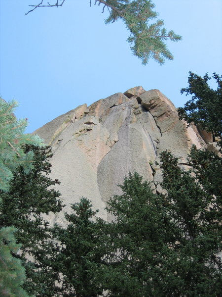 Rock Climbing Photo: Arching Jams 5.10 - Pericle Rock (Pike's Peak).