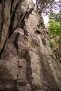 Rock Climbing Photo: Devils Lake. Upper crux of Plethora. Henning Boldt...