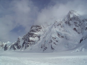 Rock Climbing Photo: Mt Hunter Northern Buttress from the KIA.  For per...