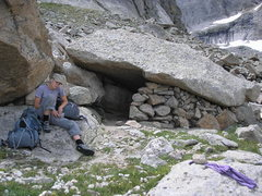 Rock Climbing Photo: Nice bivy at base of Spearhead North Ridge route.