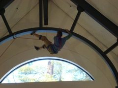 Rock Climbing Photo: First ascent of the metal arches in my school libr...