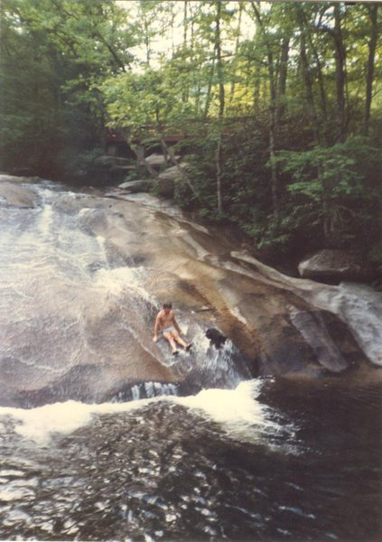 Rock Climbing Photo: rest day at nearby Sliding Rock with my pooch Magg...