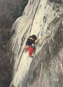 Rock Climbing Photo: Sean Cobourn on Caught Up In The Air  5.10, pitch ...