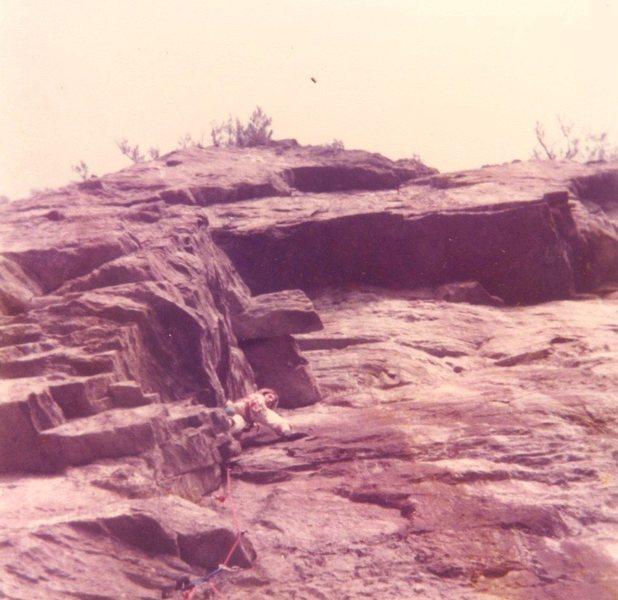 Rock Climbing Photo: Shane Cobourn on first attempt