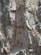 Rock Climbing Photo: Bob R. at the first pitch crux of Eternal Sunshine...