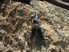 Rock Climbing Photo: Chelsea Cook pulling on to easier ground.  Amazing...