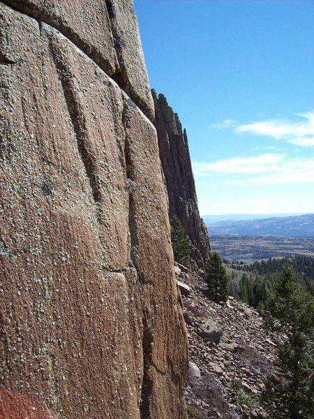 Rock Climbing Photo: Looking east.