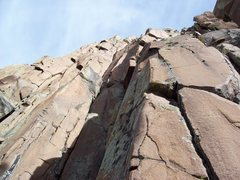 Rock Climbing Photo: The crack just left of the dihedral.