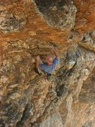 Rock Climbing Photo: Just past the start of the route.  Damn steep if y...