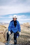 Rock Climbing Photo: Layne on the summit with the Weasel/Pinnacle forma...