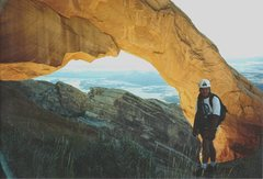 Rock Climbing Photo: Layne and the Golden Arch at the start of the fina...