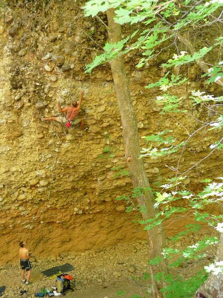 """""""Chia Pet"""" .12b at the Pipeline in Maple Canyon, UT"""