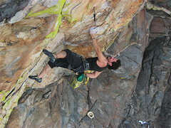 Rock Climbing Photo: Mikie Elias just out of the Orifice and into the c...