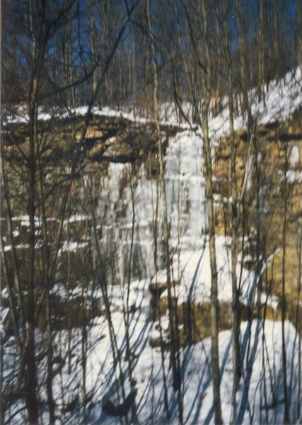 Rock Climbing Photo: Big Cliff ice, pre-global warming