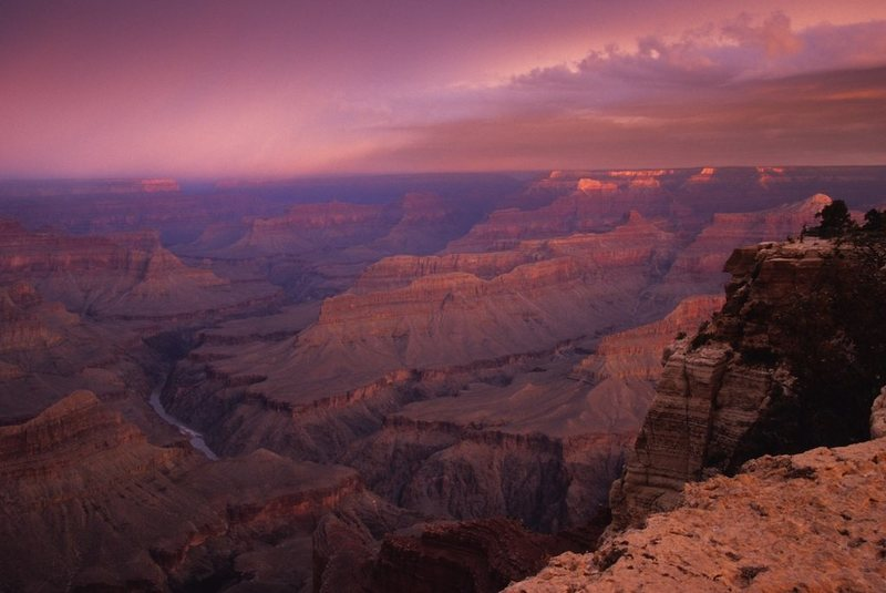 Rock Climbing Photo: Approaching storm in the Grand Canyon