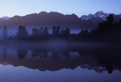 Rock Climbing Photo: Mt. Tasman reflected in Lake Matheson