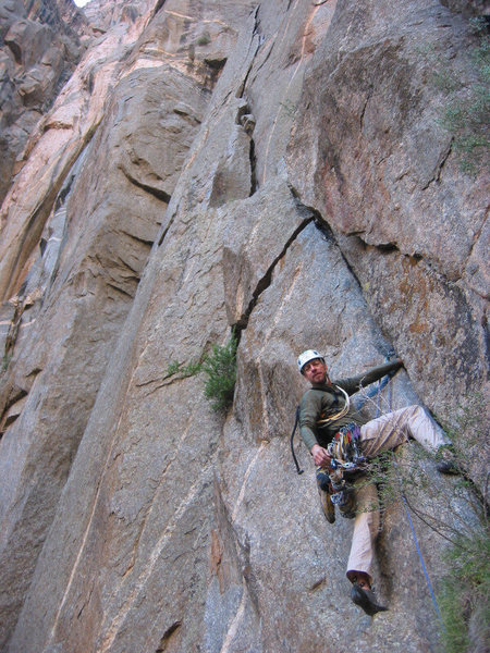 Rock Climbing Photo: Off route in the Black and lovin it! Photo by Cpt....