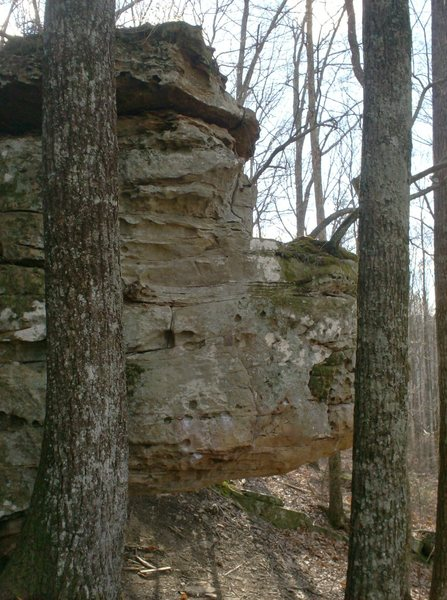 Rock Climbing Photo: Large overhang.