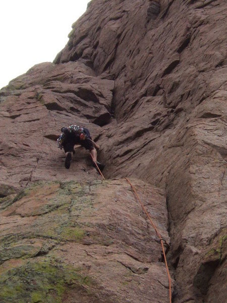 Ryan leading up the first pitch of Bush Shark. Great climb.