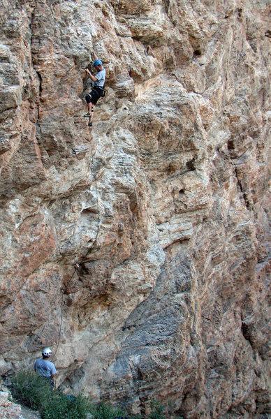 Rock Climbing Photo: Kip Henrie on Hell's Bells.