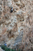 Rock Climbing Photo: Kip Henrie on Hell's Bells.