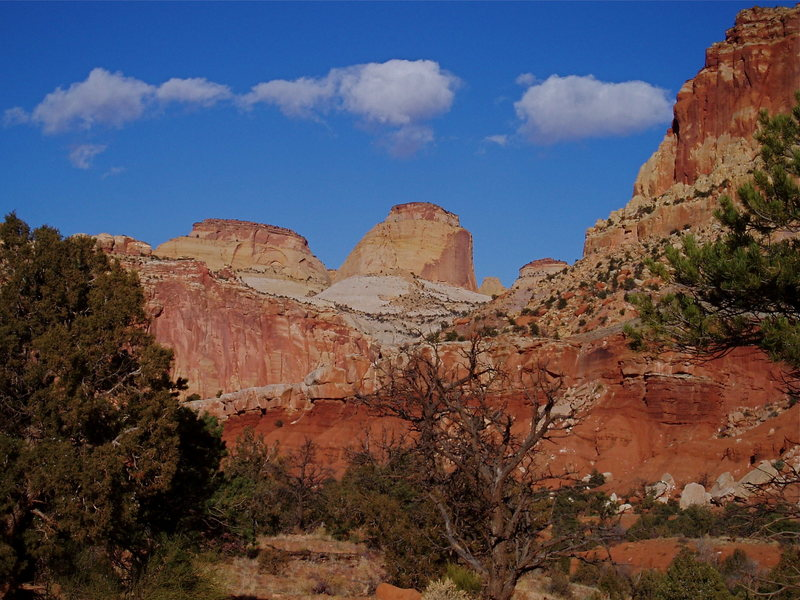 Rock Climbing Photo: Navajo domes atop Wingate cliffs.
