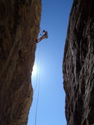 Rock Climbing Photo: Rapping off one of the routes.