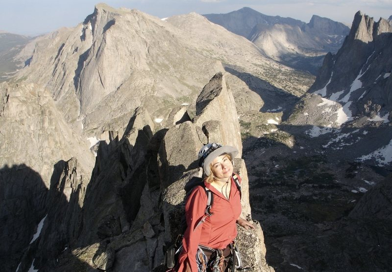 Cirque Of The Towers, Wy.<br> <br> Enjoying the views on the summit of Wolfs Head. <br> <br> 8/02/08<br>