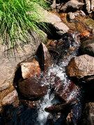 Rock Climbing Photo: Waterfall along the trail to T J Lake, Mammoth Lak...