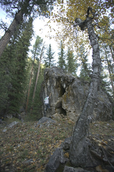 Rock Climbing Photo: another angle, top out up n right but just left of...