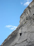 Rock Climbing Photo: Unknown Climber on Pitch 2. Bugaboo Corner follows...