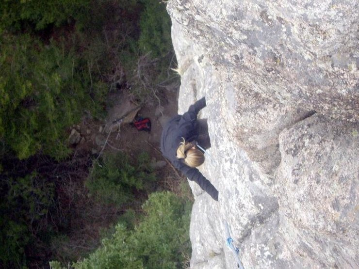 Rock Climbing Photo: I know you don't have a gri gri, so who's holding ...