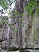 Rock Climbing Photo: Right side of main water streak.