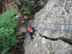Rock Climbing Photo: Dave on 5.8 crack