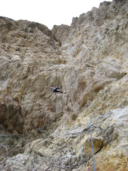 Rock Climbing Photo: Me lowering off of Coyote Certified. Fun route!