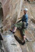 Rock Climbing Photo: Me on the nice layback crack, fun...
