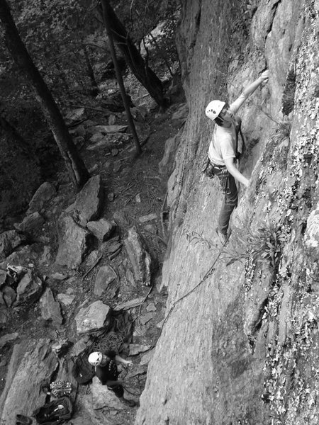 i like this shot of Issac, and dave on belay...