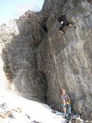 Rock Climbing Photo: Jeff and Michael Rose climbing on The Hidden.