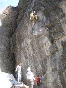 Rock Climbing Photo: Jonny Wilson belayed by Christian Burrell on Metal...