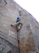 Rock Climbing Photo: The top of the layback move.