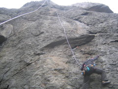 Rock Climbing Photo: Vertical... Me cleaning the climb. once above  the...