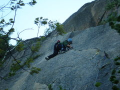 Rock Climbing Photo: A windy lead up wafer step