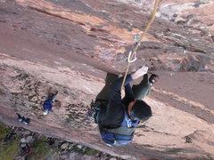 Rock Climbing Photo: Glenn at the crux
