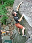 "Rock Climbing Photo: Final move on ""Show Me Mercy"" snagging t..."